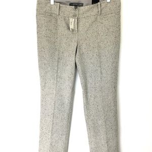 The Limited Drew Fit Gray Tweed Dress Pants